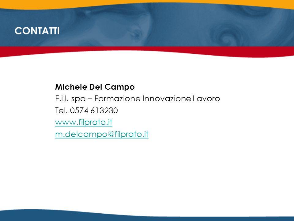 CONTATTI Michele Del Campo F.i.l. spa – Formazione Innovazione Lavoro Tel.