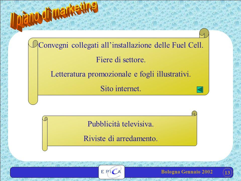 13 Convegni collegati allinstallazione delle Fuel Cell.