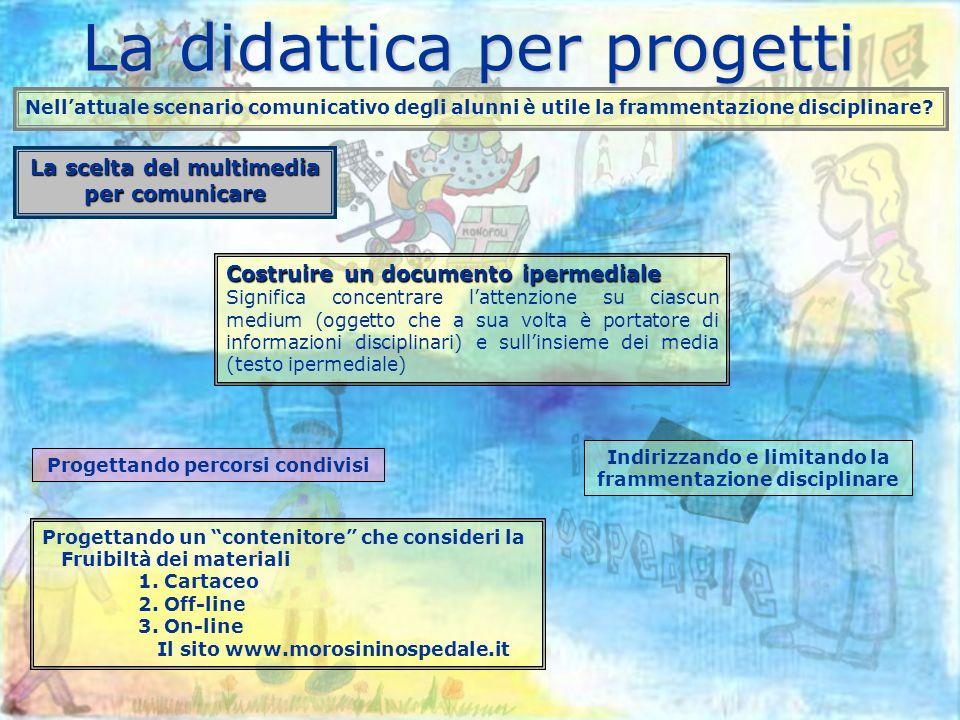 La didattica per progetti Nellattuale scenario comunicativo degli alunni è utile la frammentazione disciplinare.
