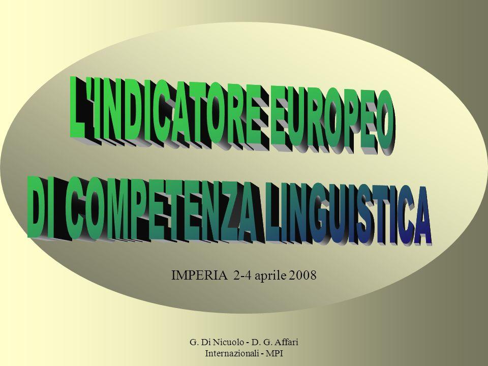 G. Di Nicuolo - D. G. Affari Internazionali - MPI IMPERIA 2-4 aprile 2008