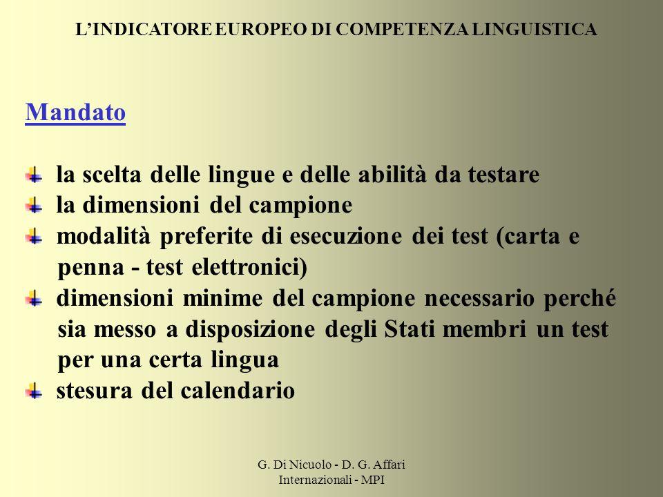 G. Di Nicuolo - D. G. Affari Internazionali - MPI
