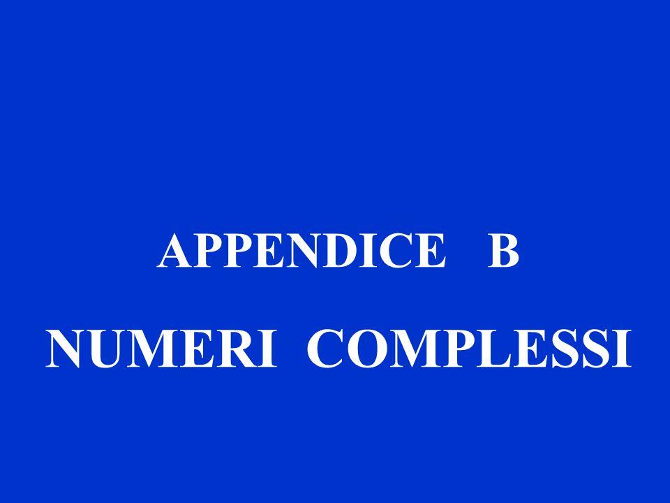 APPENDICE B NUMERI COMPLESSI