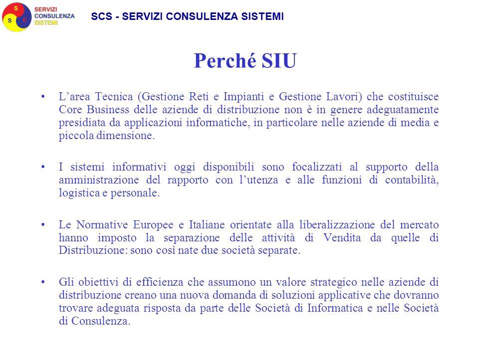La soluzione SIU - Il Mercato La soluzione applicativa SIGAD ha come target primario il mercato delle aziende a rete (Gas, Acqua, Elettricità) di media dimensione.