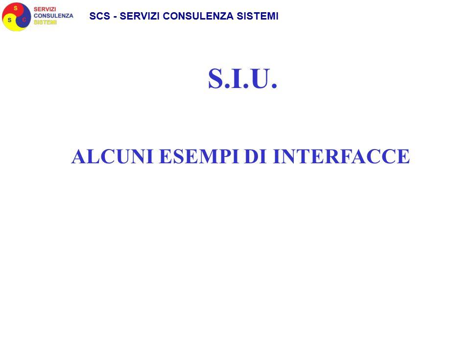 S.I.U. ALCUNI ESEMPI DI INTERFACCE
