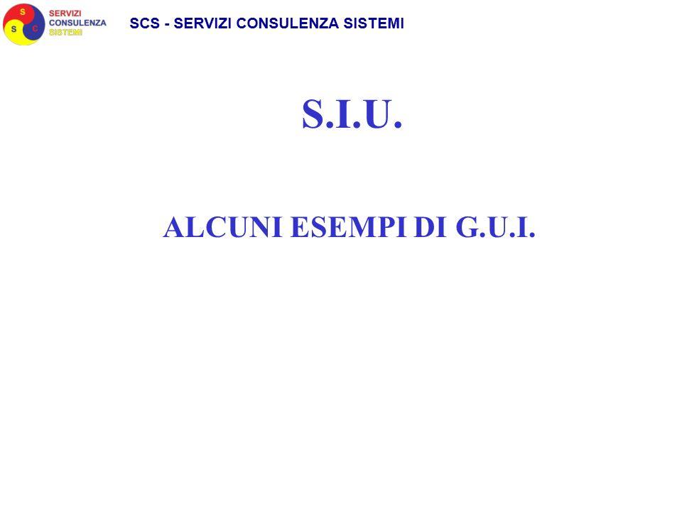 S.I.U. ALCUNI ESEMPI DI G.U.I.