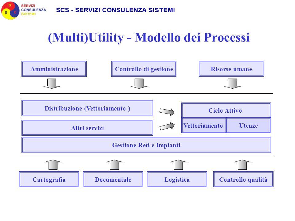 (Multi)Utility - Modello dei Processi AmministrazioneControllo di gestioneRisorse umane Distribuzione (Vettoriamento ) Altri servizi Gestione Reti e I