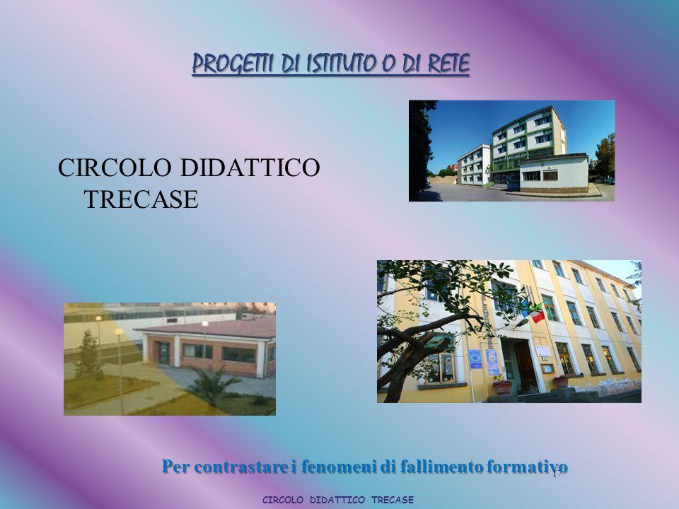 PROGETTI DI ISTITUTO O DI RETE CIRCOLO DIDATTICO TRECASE 17 Per contrastare i fenomeni di fallimento formativo CIRCOLO DIDATTICO TRECASE