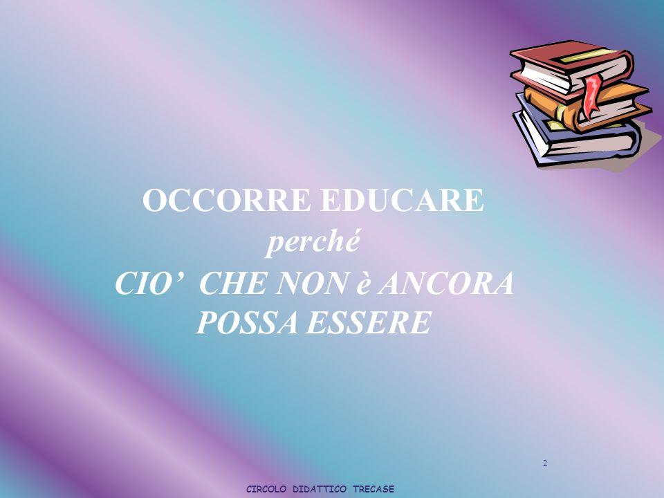 2 OCCORRE EDUCARE perché CIO CHE NON è ANCORA POSSA ESSERE CIRCOLO DIDATTICO TRECASE