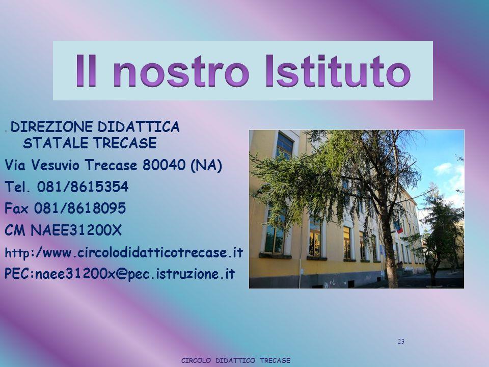 . DIREZIONE DIDATTICA STATALE TRECASE Via Vesuvio Trecase 80040 (NA) Tel. 081/8615354 Fax 081/8618095 CM NAEE31200X http :/www.circolodidatticotrecase