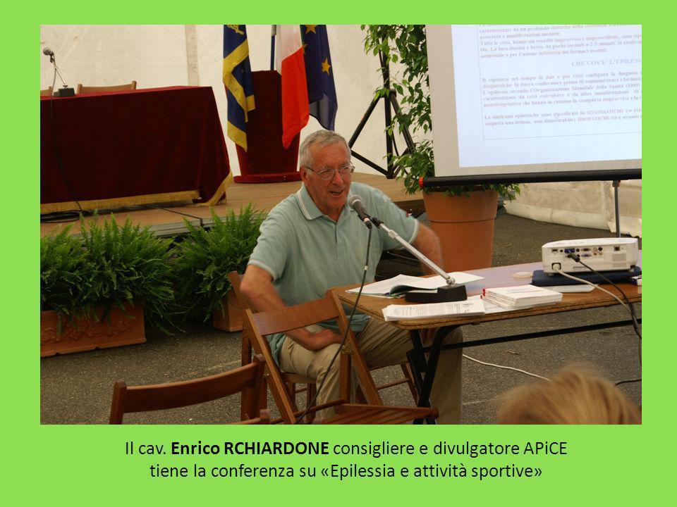 Il cav. Enrico RCHIARDONE consigliere e divulgatore APiCE tiene la conferenza su «Epilessia e attività sportive»