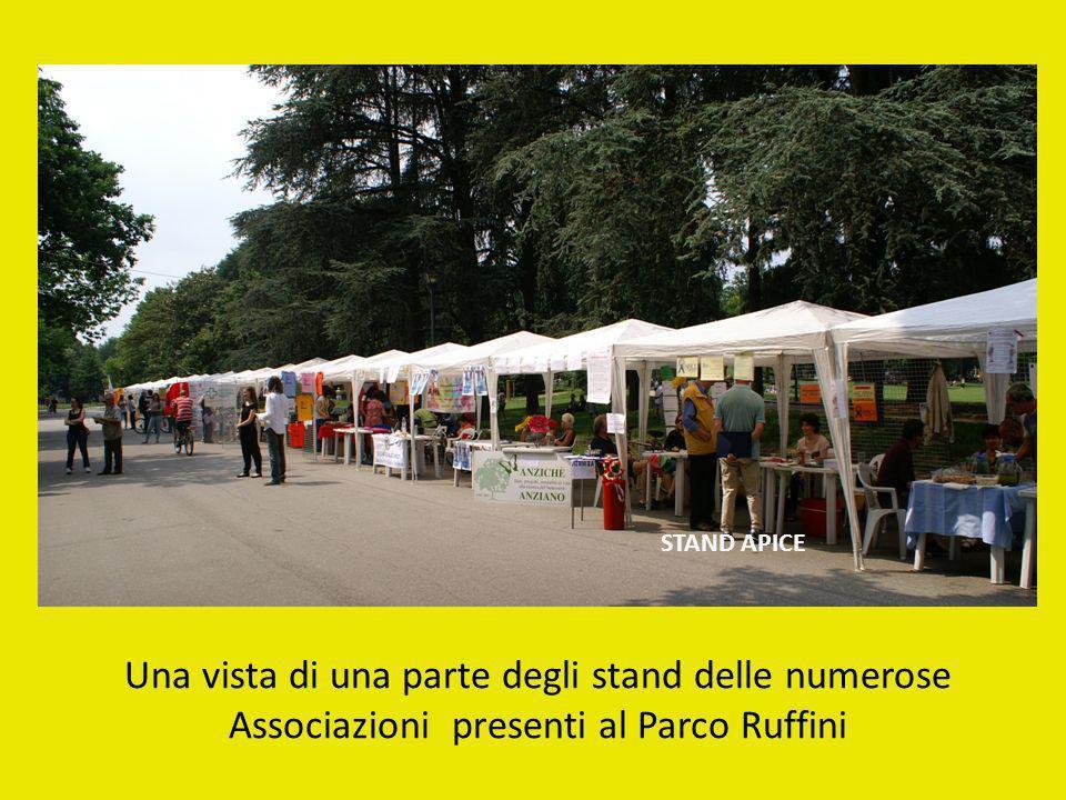 STAND APICE Una vista di una parte degli stand delle numerose Associazioni presenti al Parco Ruffini