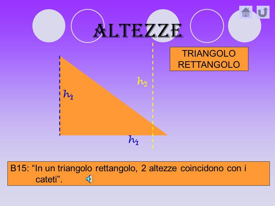 altezze B14: In un triangolo acutangolo, le 3 altezze sono interne al triangolo stesso.
