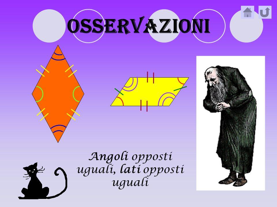 diagonali La diagonale è un segmento che unisce 2 vertici opposti (cioè non adiacenti)