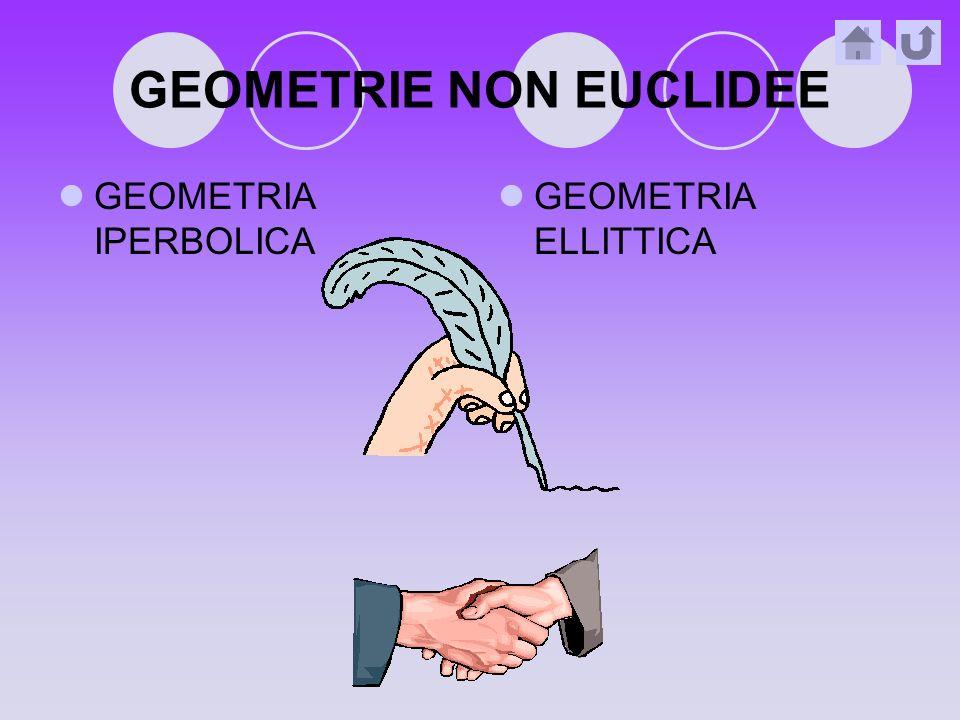 GEOMETRIE NON EUCLIDEE GEOMETRIA IPERBOLICA GEOMETRIA ELLITTICA