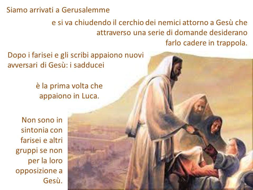 Il partito sadduceo era, al tempo di Gesù, il partito dei ricchi collaboratori dei romani.