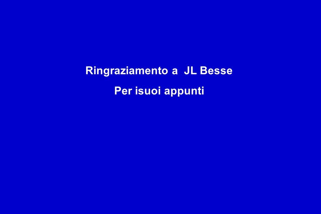 Ringraziamento a JL Besse Per isuoi appunti
