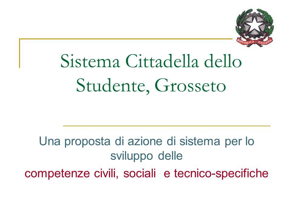 Sistema Cittadella dello Studente, Grosseto Una proposta di azione di sistema per lo sviluppo delle competenze civili, sociali e tecnico-specifiche