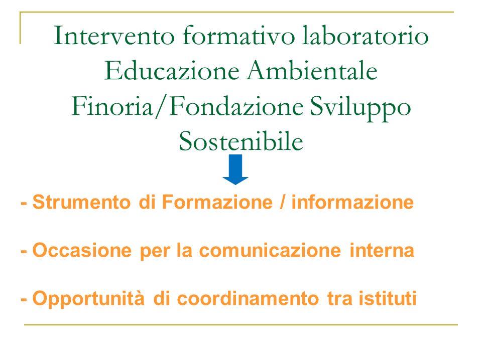 Intervento formativo laboratorio Educazione Ambientale Finoria/Fondazione Sviluppo Sostenibile - Strumento di Formazione / informazione - Occasione pe