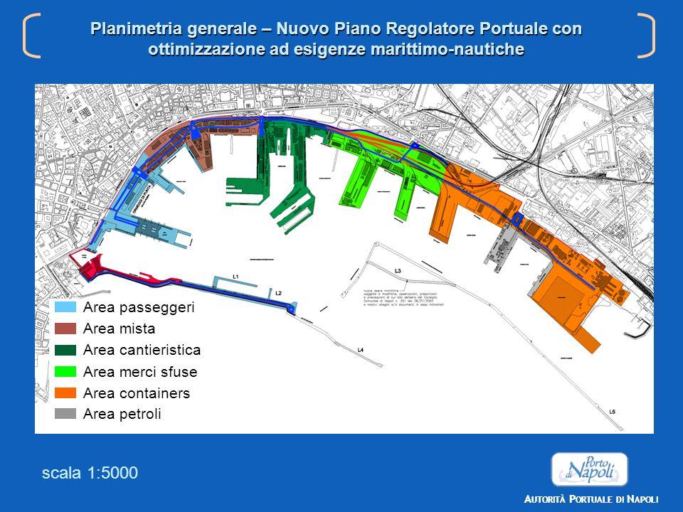 Planimetria generale Nuovo PRP A UTORITÀ P ORTUALE DI N APOLI Planimetria generale – Nuovo Piano Regolatore Portuale con ottimizzazione ad esigenze ma
