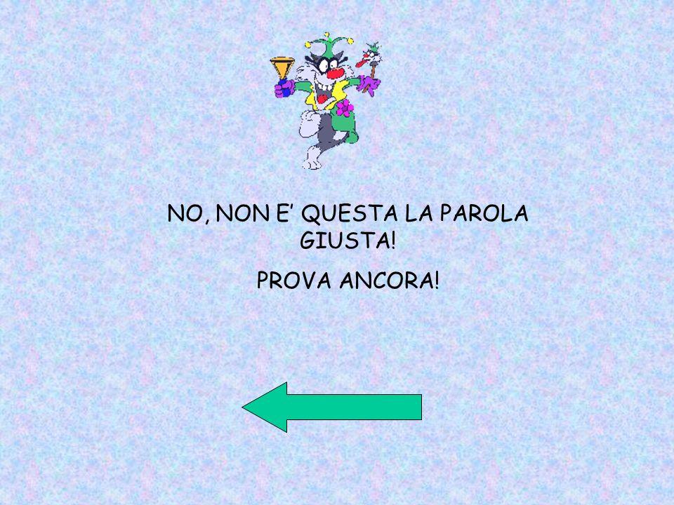 NO, NON E QUESTA LA PAROLA GIUSTA! PROVA ANCORA!