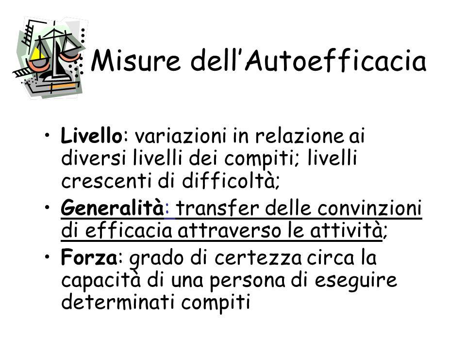 Caratteristiche distintive del costrutto Lautoefficacia si riferisce ai giudizi in merito alle capacità di eseguire determinate attività, più che a qu