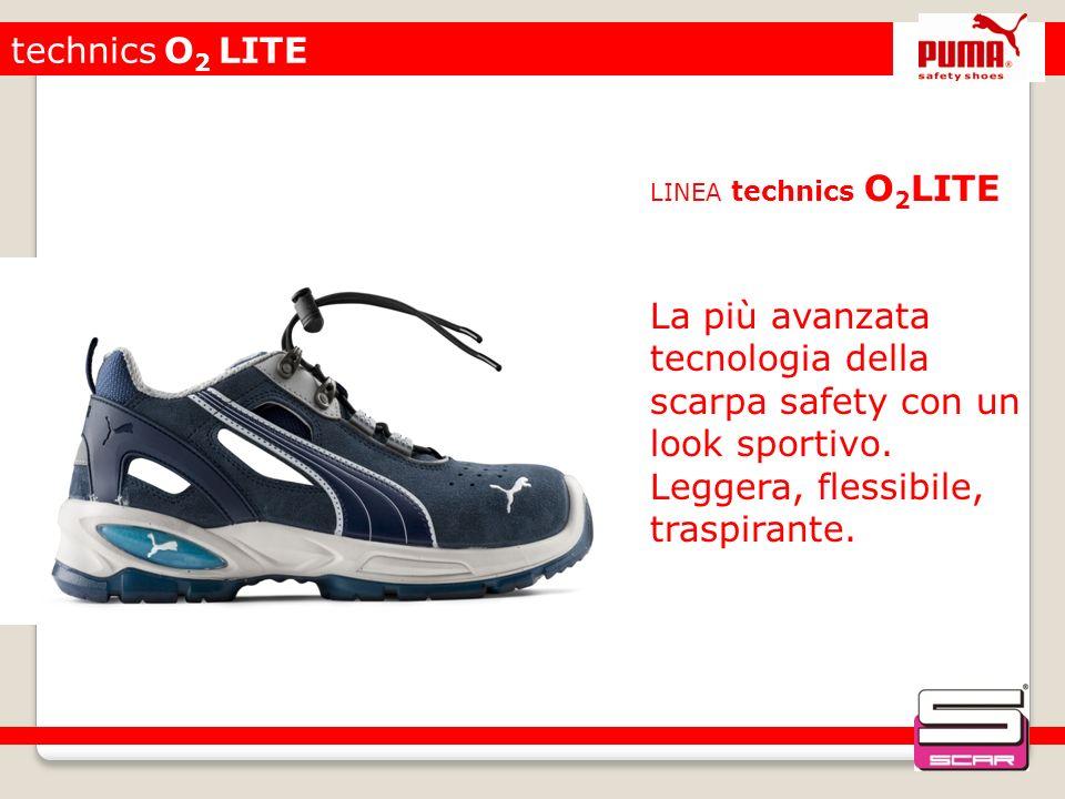 technics O 2 LITE LINEA technics O 2 LITE La più avanzata tecnologia della scarpa safety con un look sportivo. Leggera, flessibile, traspirante.