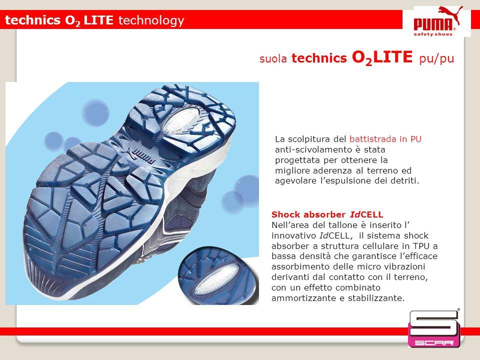 technics O 2 LITE technology suola technics O 2 LITE pu/pu Shock absorber IdCELL Nellarea del tallone è inserito l innovativo IdCELL, il sistema shock