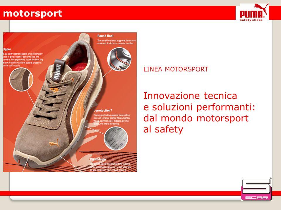 motorsport LINEA MOTORSPORT Innovazione tecnica e soluzioni performanti: dal mondo motorsport al safety