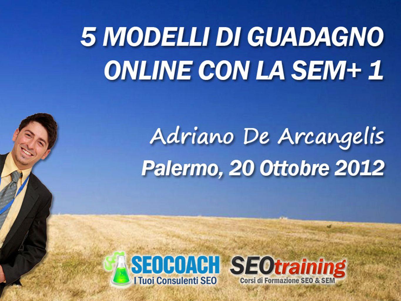 Chi parlerà oggi 2 Adriano De Arcangelis CEO di DEA Marketing S.r.l., è uno dei più stimati e conosciuti consulenti Web italiani, attivo nel settore dai primi anni 2000, ha vissuto sul proprio lavoro i tanti cambiamenti dei search engine.