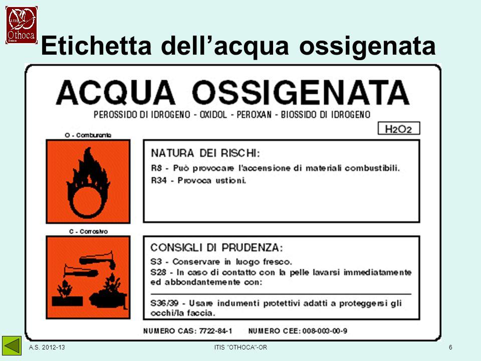 Etichetta di un reagente