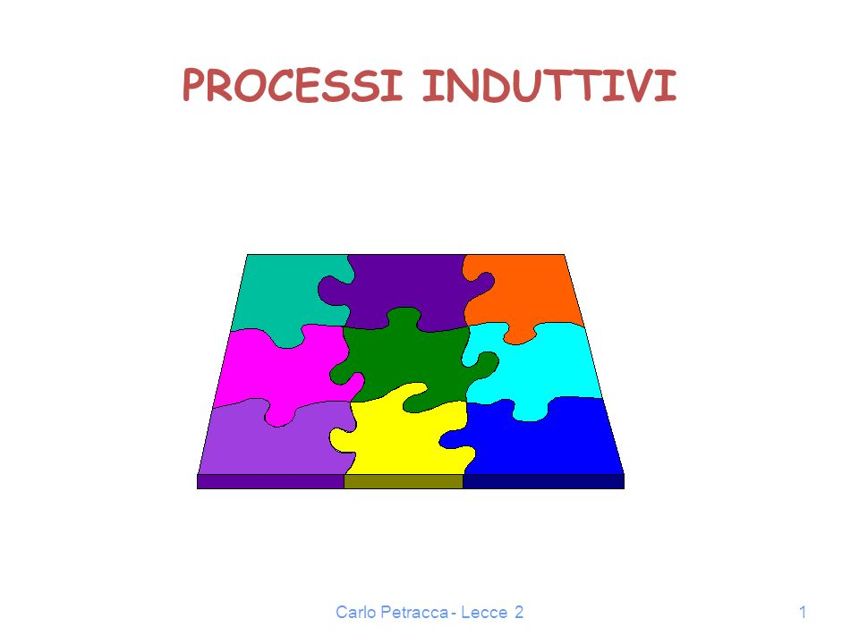 Carlo Petracca - Lecce 21 PROCESSI INDUTTIVI