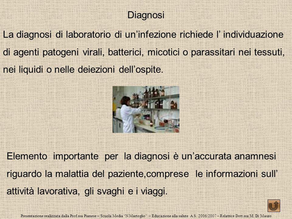 Presentazione realizzata dalla Prof.ssa Pianese – Scuola Media N.Martoglio – Educazione alla salute A.S. 2006/2007 – Relatrice Dott.ssa M. Di Mauro Di
