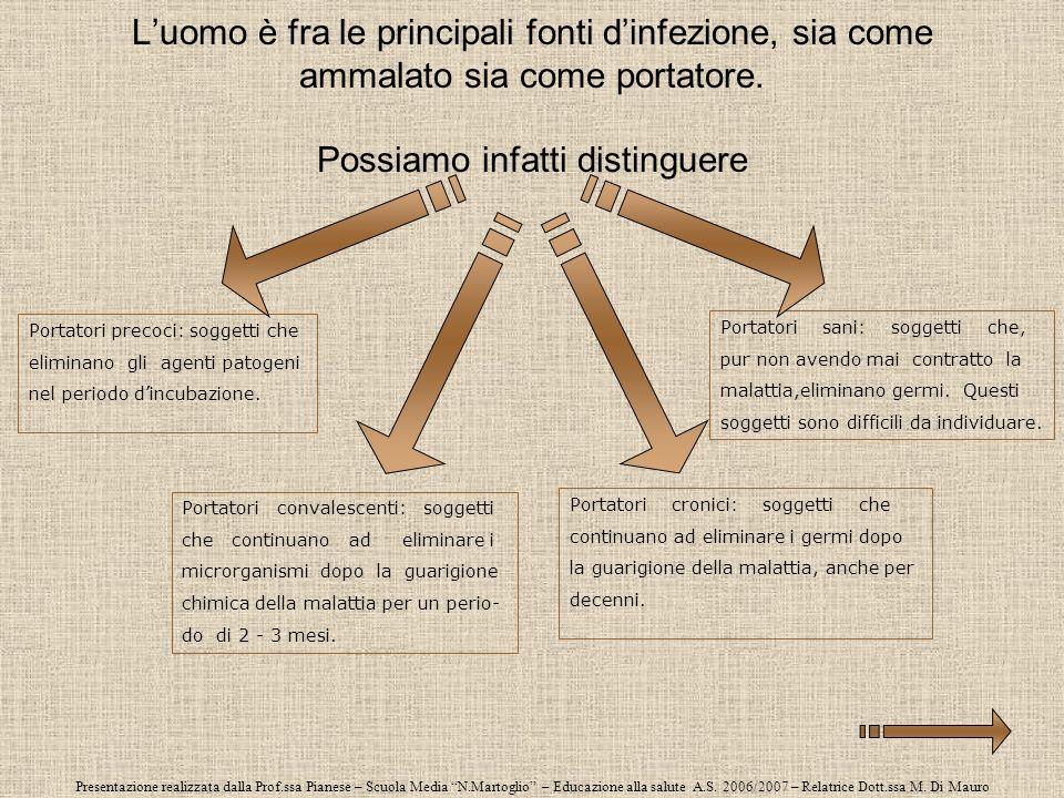 Presentazione realizzata dalla Prof.ssa Pianese – Scuola Media N.Martoglio – Educazione alla salute A.S. 2006/2007 – Relatrice Dott.ssa M. Di Mauro Lu