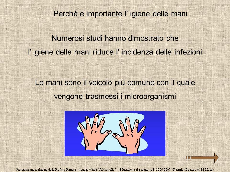 Presentazione realizzata dalla Prof.ssa Pianese – Scuola Media N.Martoglio – Educazione alla salute A.S. 2006/2007 – Relatrice Dott.ssa M. Di Mauro Pe