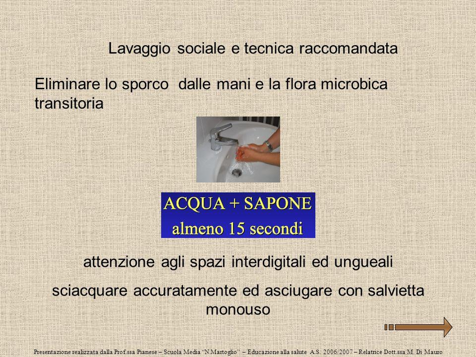 Presentazione realizzata dalla Prof.ssa Pianese – Scuola Media N.Martoglio – Educazione alla salute A.S. 2006/2007 – Relatrice Dott.ssa M. Di Mauro La