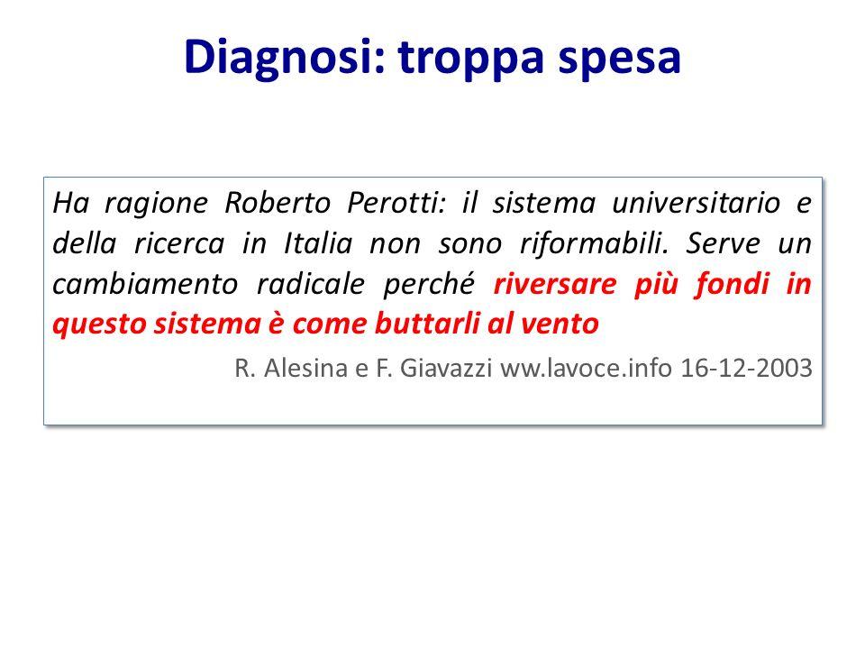 Ha ragione Roberto Perotti: il sistema universitario e della ricerca in Italia non sono riformabili. Serve un cambiamento radicale perché riversare pi