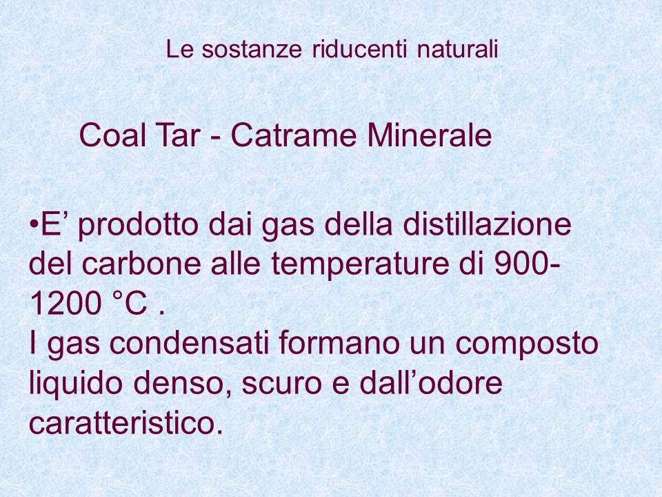 Coal Tar - Catrame Minerale E prodotto dai gas della distillazione del carbone alle temperature di 900- 1200 °C. I gas condensati formano un composto