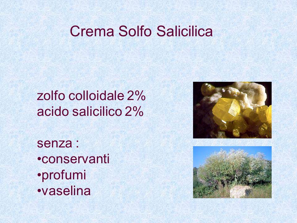 Crema Solfo Salicilica zolfo colloidale 2% acido salicilico 2% senza : conservanti profumi vaselina