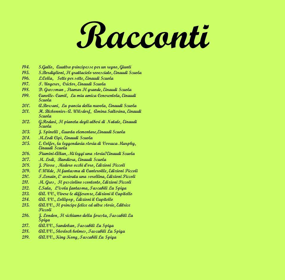 Racconti 220.AA.VV., In campagna che delizia, Mondadori 221.G.