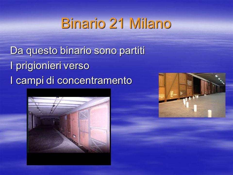 Binario 21 Milano Da questo binario sono partiti I prigionieri verso I campi di concentramento