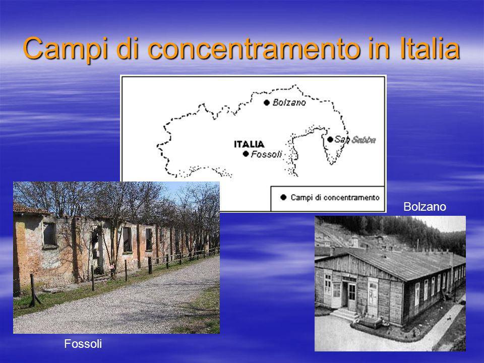 Campi di concentramento in Italia Fossoli Bolzano