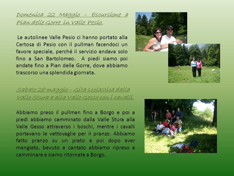 Domenica 22 Maggio – Escursione a Pian delle Gorre in Valle Pesio. Le autolinee Valle Pesio ci hanno portato alla Certosa di Pesio con il pullman face