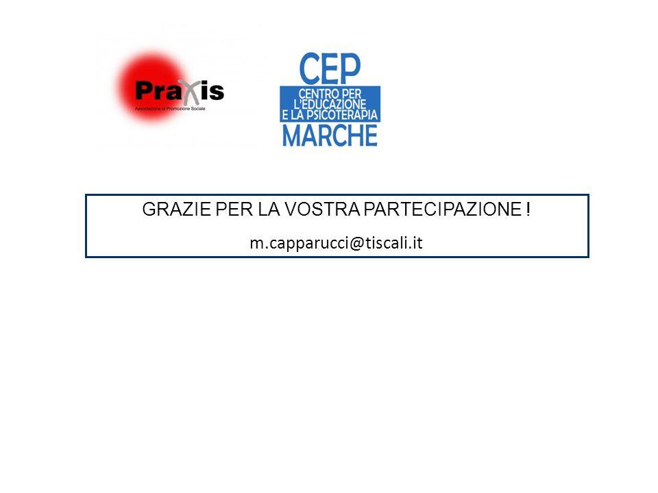 GRAZIE PER LA VOSTRA PARTECIPAZIONE ! m.capparucci@tiscali.it