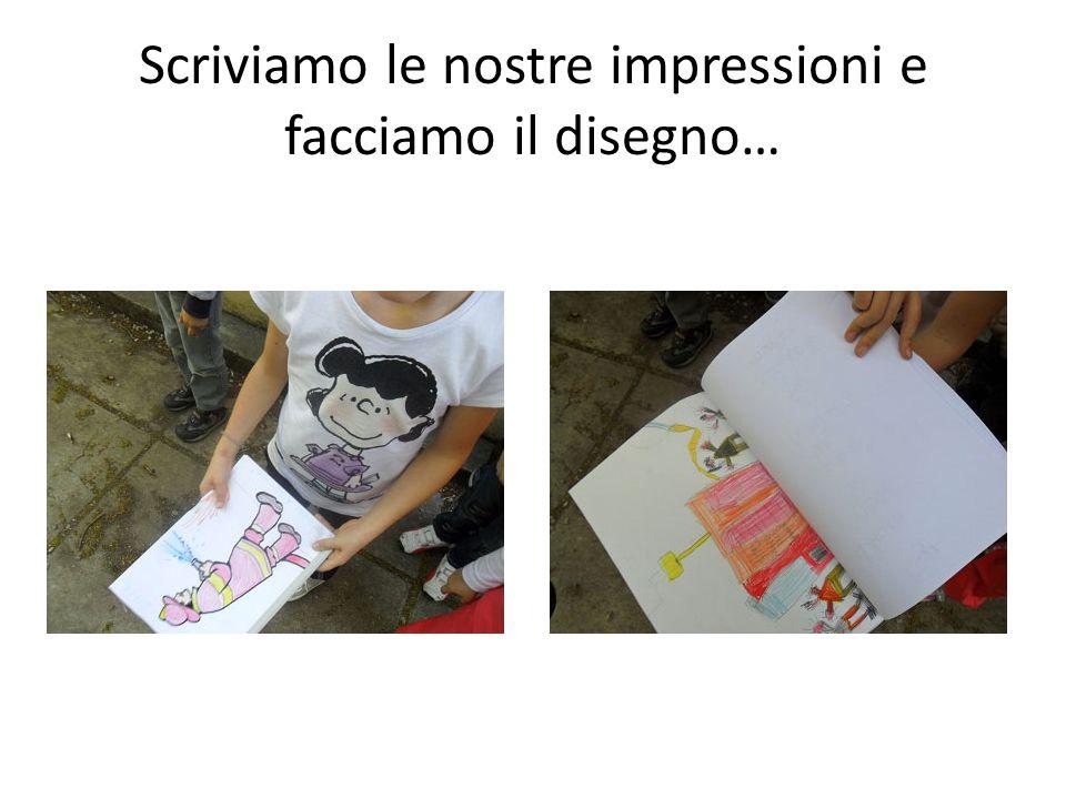 Scriviamo le nostre impressioni e facciamo il disegno…