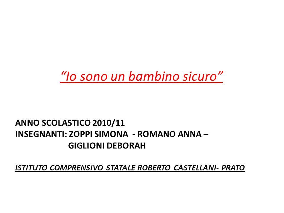 ANNO SCOLASTICO 2010/11 INSEGNANTI: ZOPPI SIMONA - ROMANO ANNA – GIGLIONI DEBORAH ISTITUTO COMPRENSIVO STATALE ROBERTO CASTELLANI- PRATO Io sono un ba