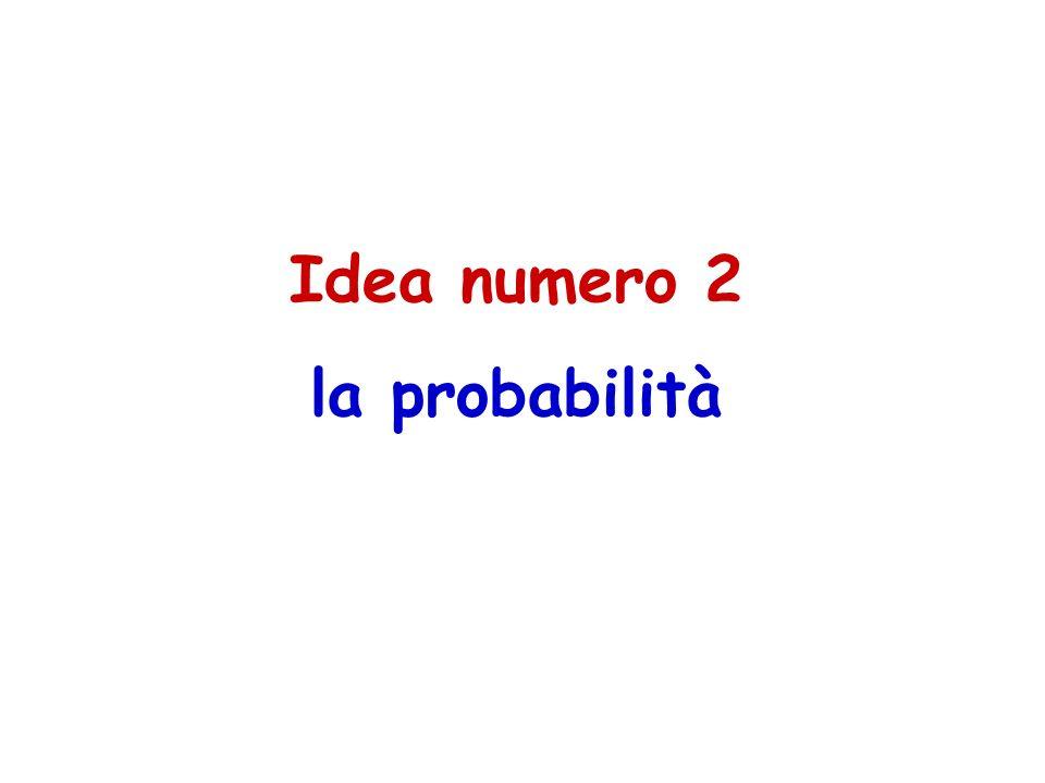 Idea numero 2 la probabilità