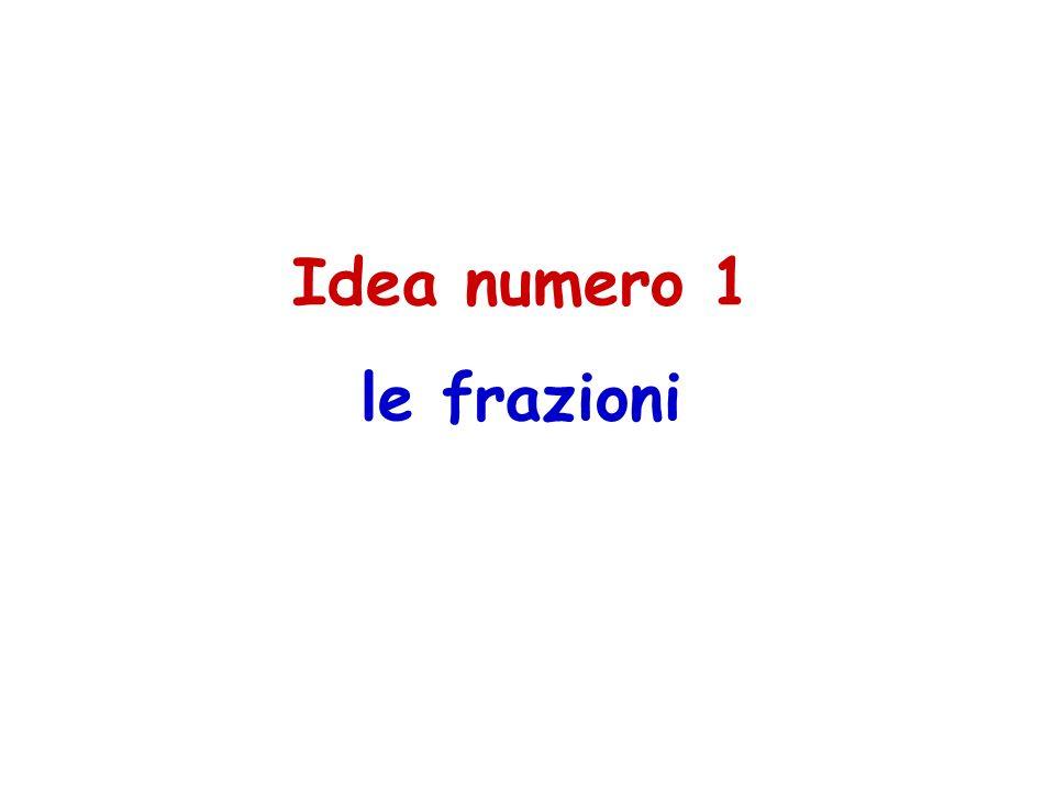 Idea numero 1 le frazioni
