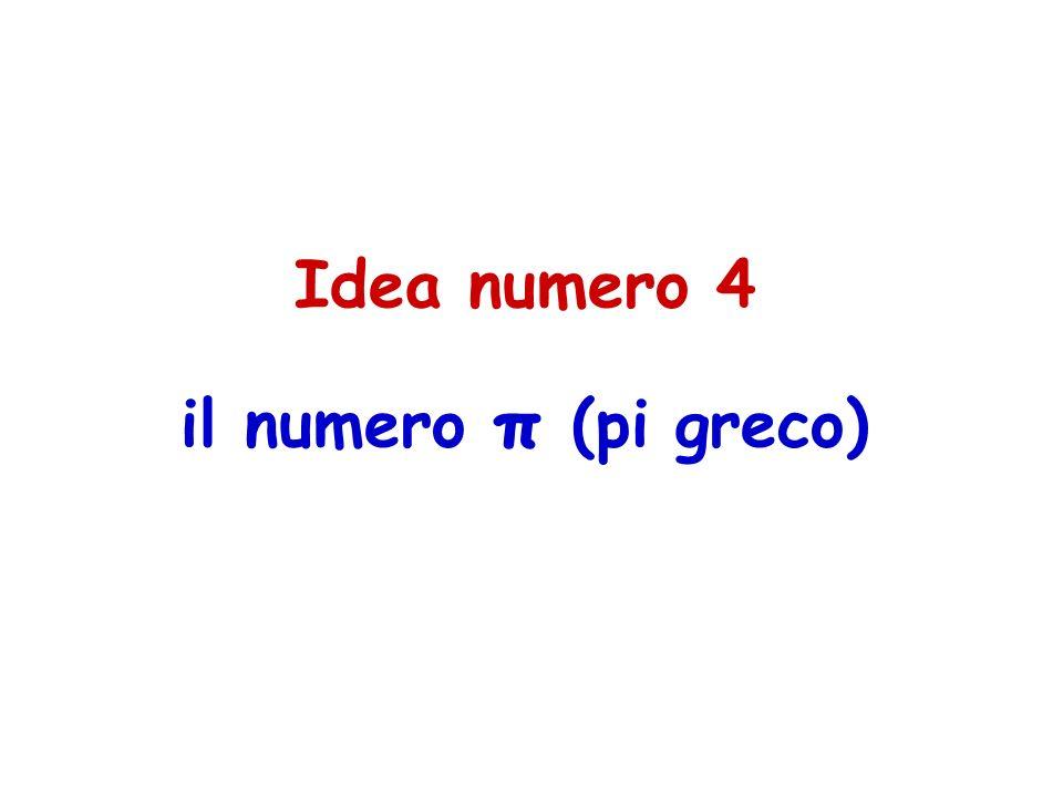 Idea numero 4 il numero π (pi greco)