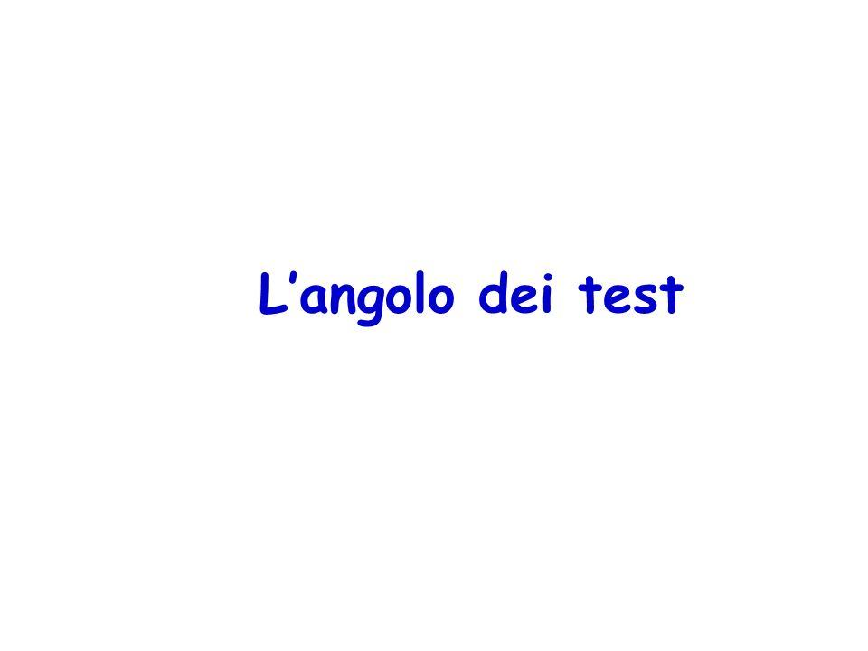 Langolo dei test