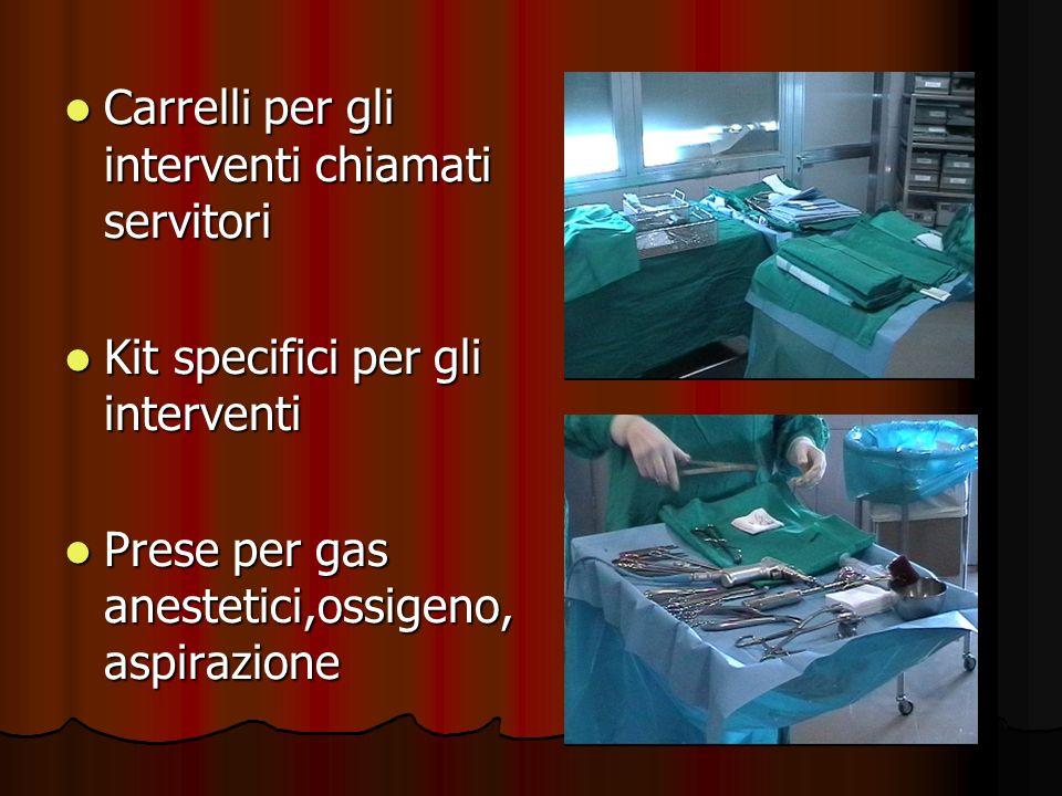 Carrelli per gli interventi chiamati servitori Carrelli per gli interventi chiamati servitori Kit specifici per gli interventi Kit specifici per gli i